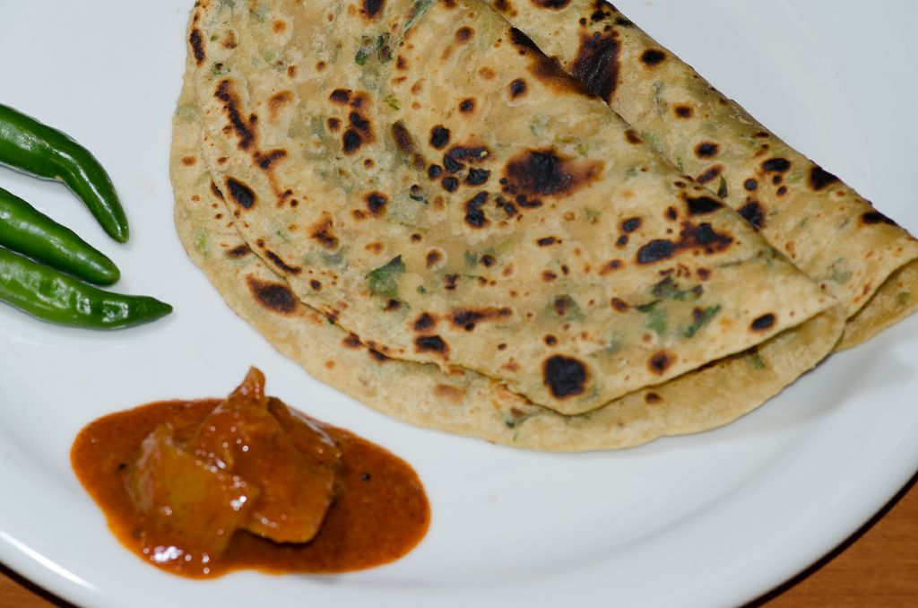how to cook methi paratha
