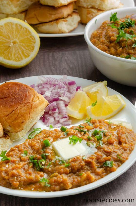 pav bhaji - noorsrecipes
