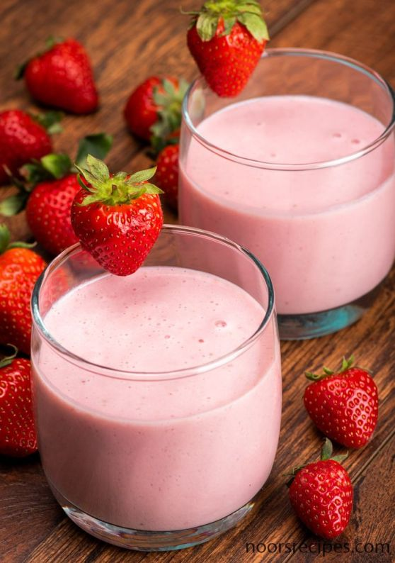 strawberry shake - noorsrecipes